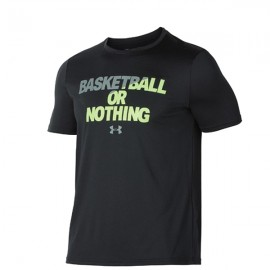 Under Armour T-Shirt Mm Bball Or Nothing Nero/Giallo