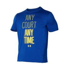 Under Armour T-Shirt Mm Any Court Blu/Giallo