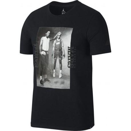 Nike T-Shirt Stampa Mm Jordan Nero