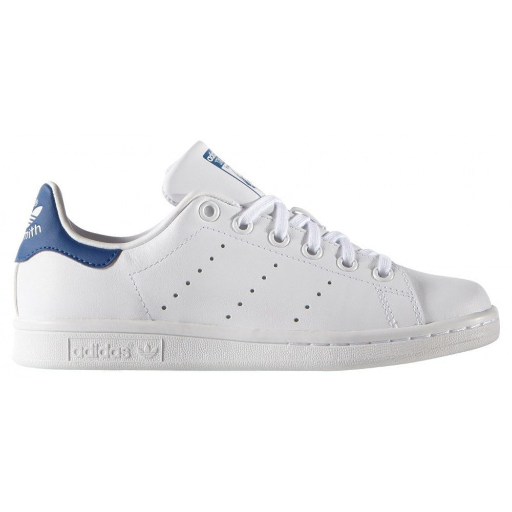 Adidas stan smith bianco blu bambino s74778 sportland for Adidas nuove stan smith