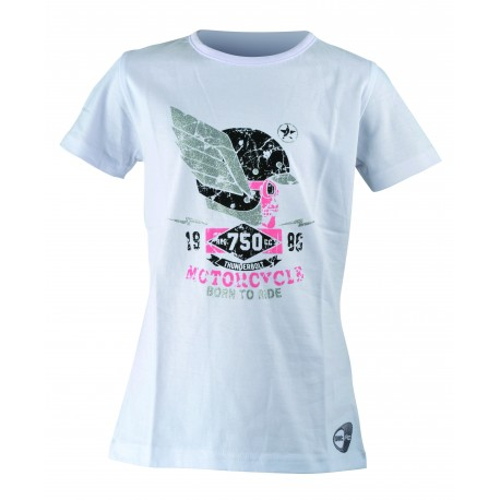 Get Fit T-Shirt Teschio Bianco Bambina