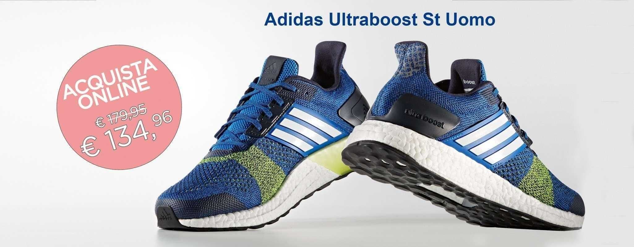 Adidas Ultraboost St Blu/Yellow