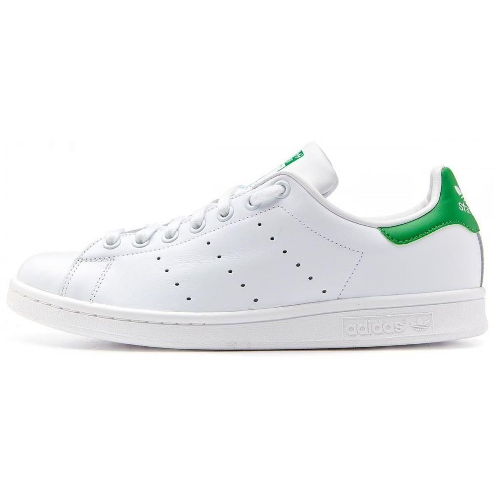 ADIDAS originals sneakers stan smith lea bianco verde uomo