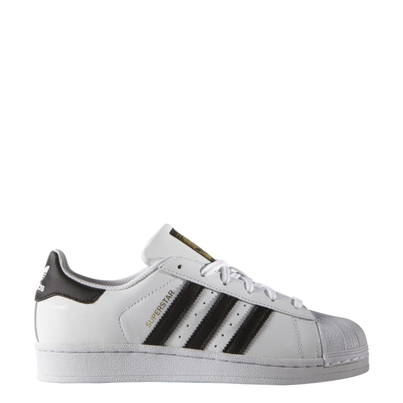 online store 2695a 5127f Adidas Superstar Lea Gs Bambino Bianco Nero