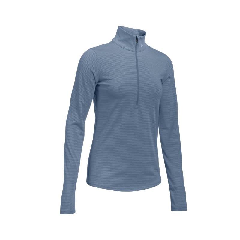 Under Armour T-Shirt Ml Run Streaker 1/2 Zip Aurora Purple Donna