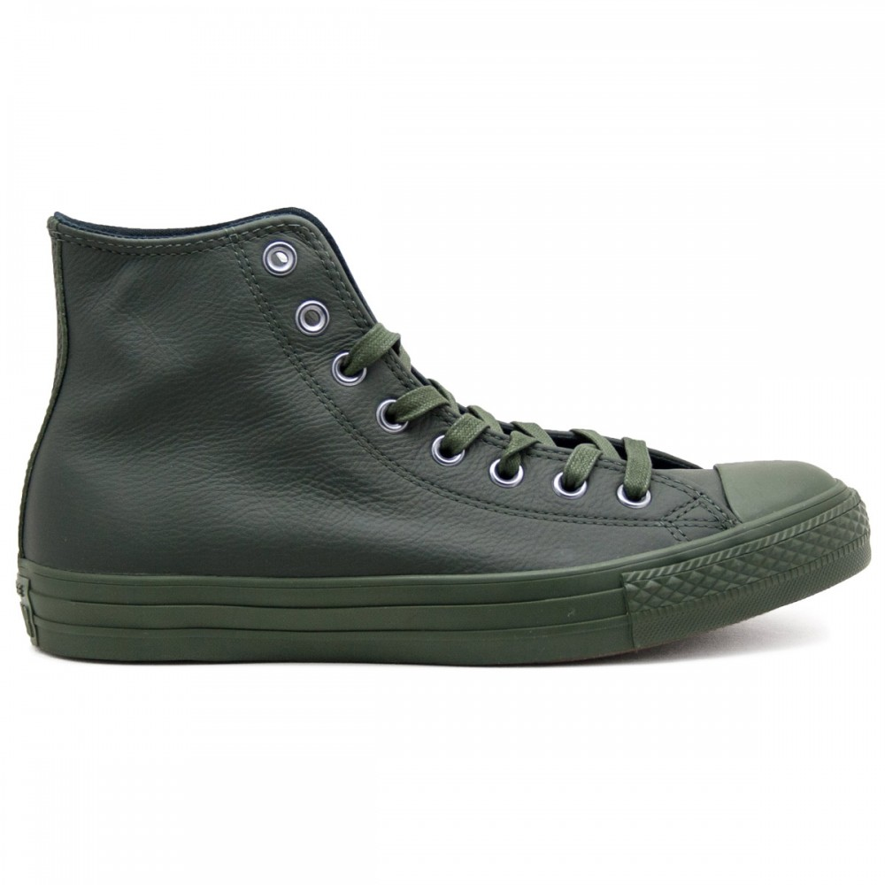 All Star Green Hi Leather