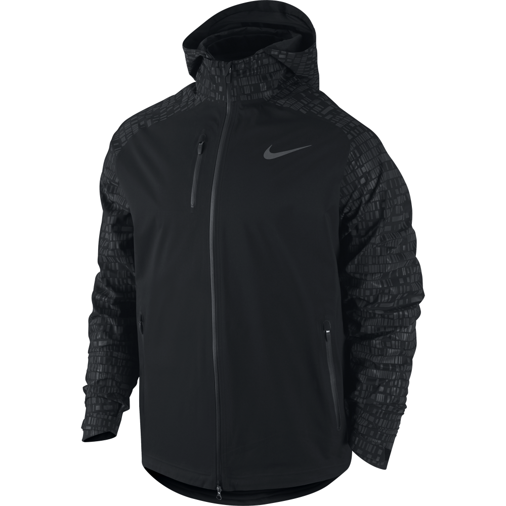 Nike, Giacca a Vento da Running Uomo Run Fly, Nero (Black