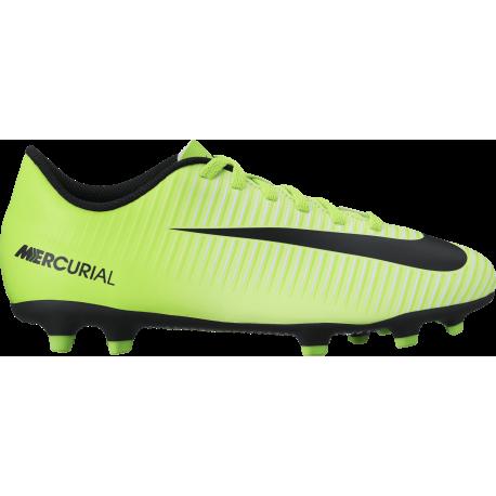 the latest c6e47 0b09f Nike Mercurial Vortex III Fg Verde Nero Junior ...