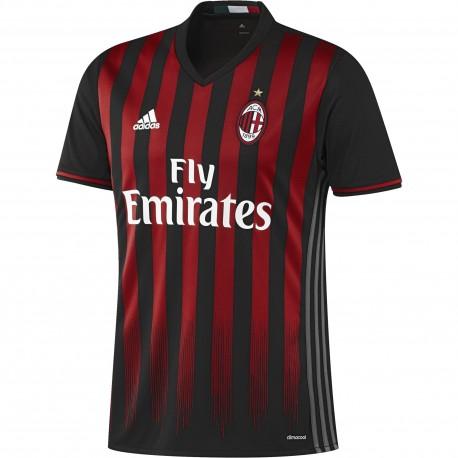 Adidas T-Shirt Home Replica AC Milan Black/Victory Red/Granite