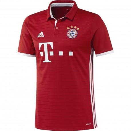 Adidas T-Shirt Home Replica FC Bayern Munchen Red/White