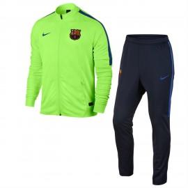 Nike Tuta Fcb Dry Sqd  Verde/Nero Junior