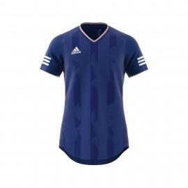 Adidas T-Shirt Mm Tanc Jacquard Royal/Bianco