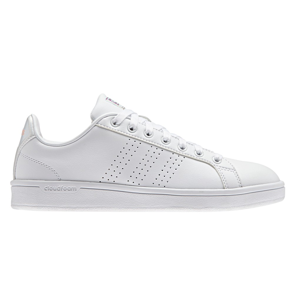 ... Adidas Cloudfoam Advantage Clean Bianco/Bianco Donna