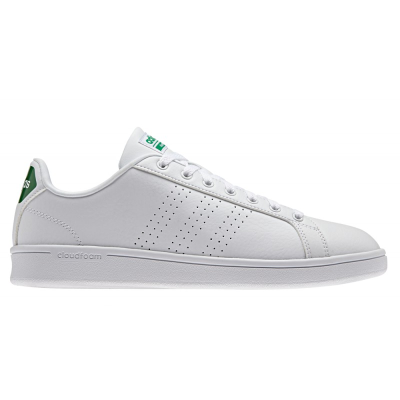 best website a1dde f2099 Adidas Cloudfoam Advantage Clean Bianco Verde
