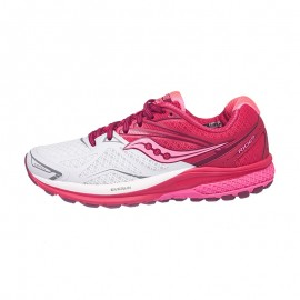 Saucony Ride 9 White/Berry Donna