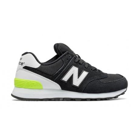New Balance 574 Suede Mesh  Nero/Bianco Donna