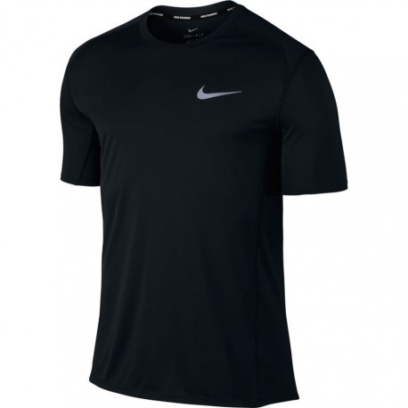 Nike T-shirt Mm Run Dry Miler Black/Black