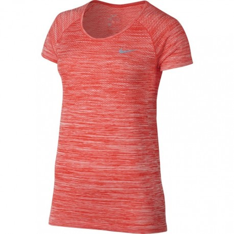 Nike T-shirt Mm Run Df Knit Max Orange/Htr Donna