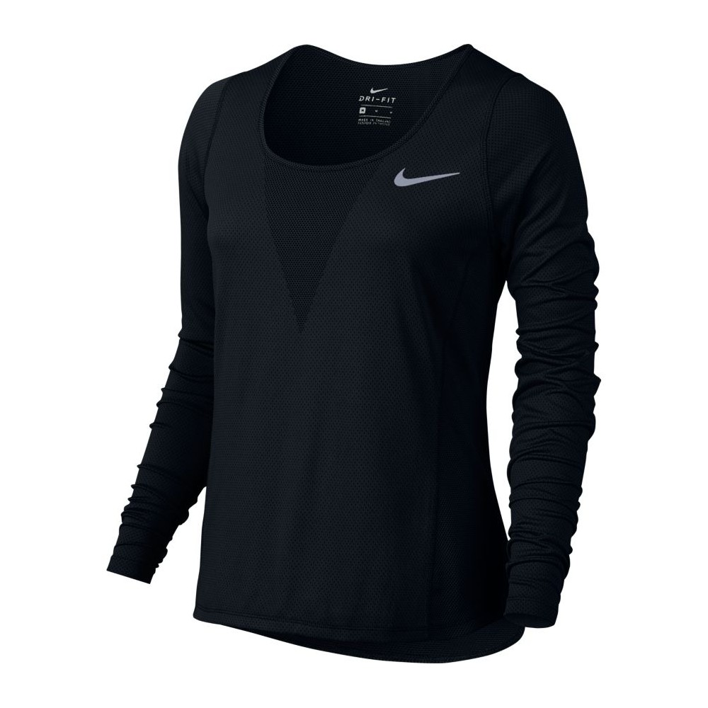 38903fb987ca3 Nike T-shirt Ml Run Cl Relay Black Donna 831514-010 - Acquista ...