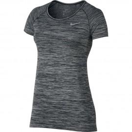 Nike T-shirt Mm Run Df Knit Black/Htr Donna