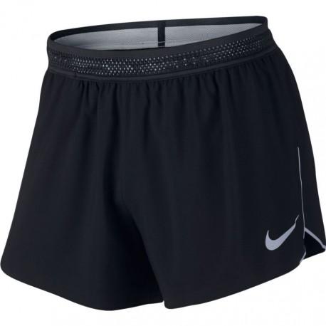 Nike Short Run In Aroswft Black/Wolf Grey