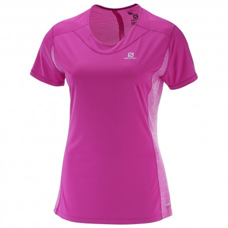 Salomon T-shirt Donna Agile - Rose Violet