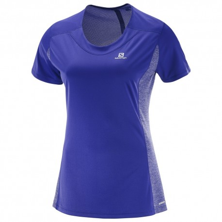Salomon T-shirt Donna Agile - Spectrum Blue