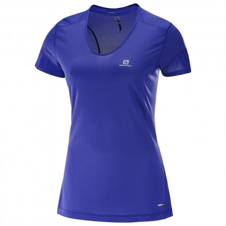 Salomon T-shirt Donna Trail Runner - Spectrum Blue