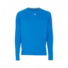 Diadora T-shirt ML Run Sun Lock Blu Cielo
