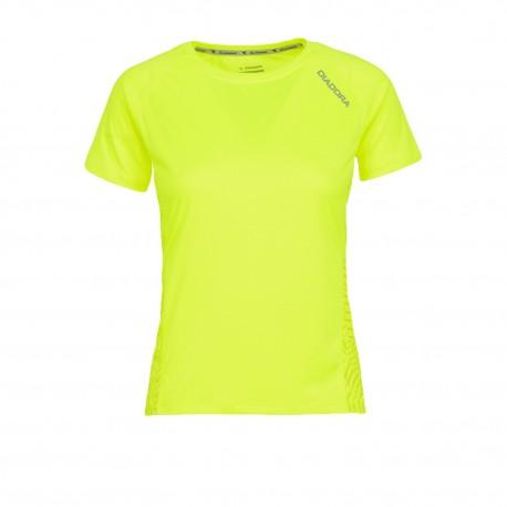 Diadora T-shirt MM Run L.X. Giallo Fluo
