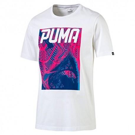 Puma T-Shirt Mm Fantasia  Bianco