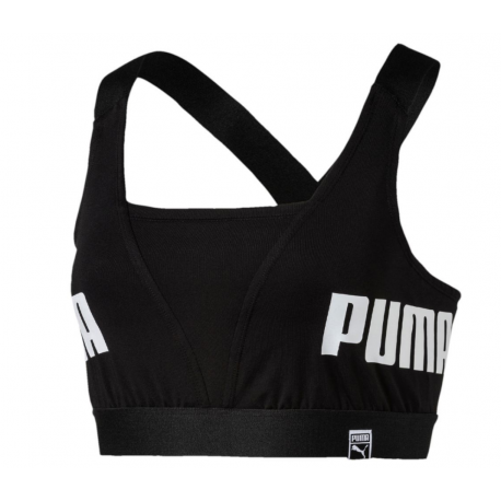 Puma Bra Logo Train Donna Nero