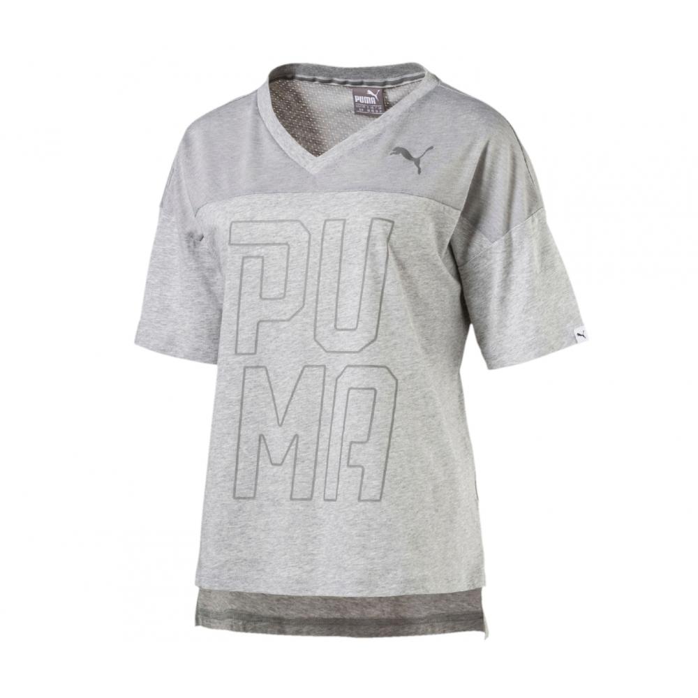 Puma T Shirt Donna Mm Scollo V Grigio 590746 004 Acquista
