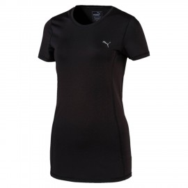 Puma T-Shirt Donna Giro Mm Nero
