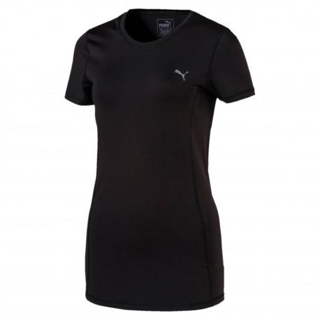 Puma T-Shirt Donna Giro Mm Nero