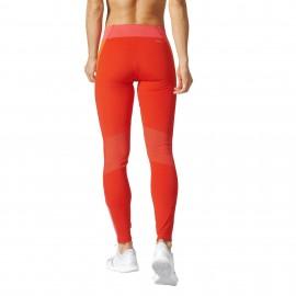Adidas Legging Donna Bicolor Train Rosso