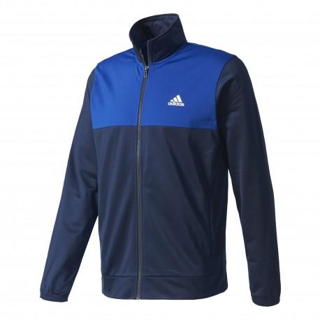 Adidas Tuta Poly Zip Bicolor Blu