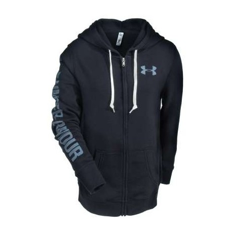 Under Armour Felpa Cap/Zip Favorite Donna Black
