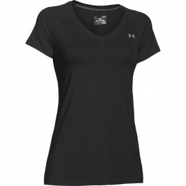 Under Armour T-Shirt HeatGear Donna Nero
