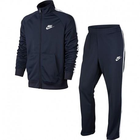 Nike Tuta Poly Zip Basic Blu