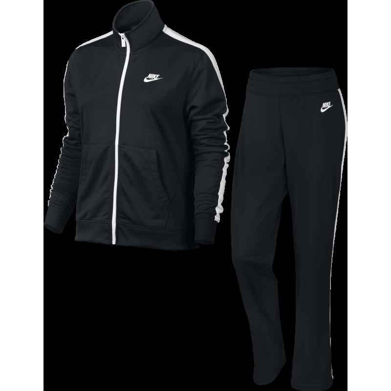 Nike Tuta Poly Zip Basic Nero Donna