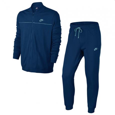 Nike Tuta Jy Zip/Polsino Blu