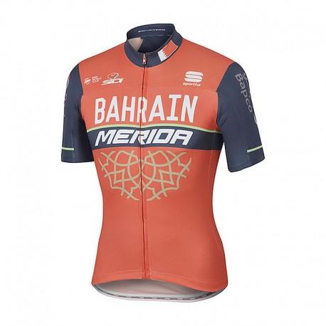 Sportful Maglia Bahrain Merida Bodyfit Pro Team Red/Blue