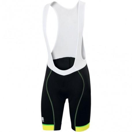 Sportful Salopette Giro Black/Yellow Fluo