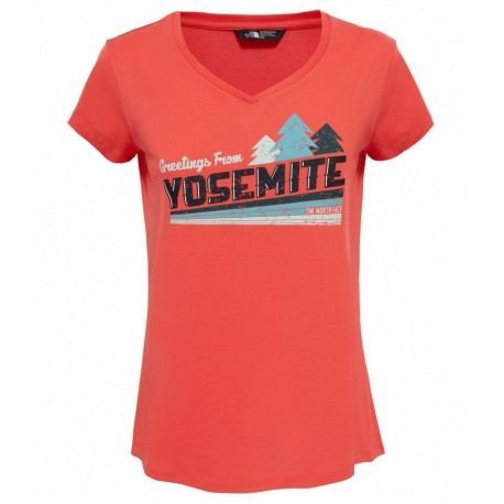 The North Face T-Shirt Donna Tansa Cayenne Red