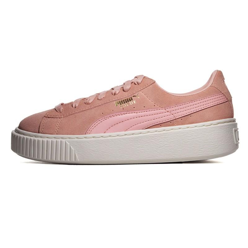 puma suede platform rosa donna