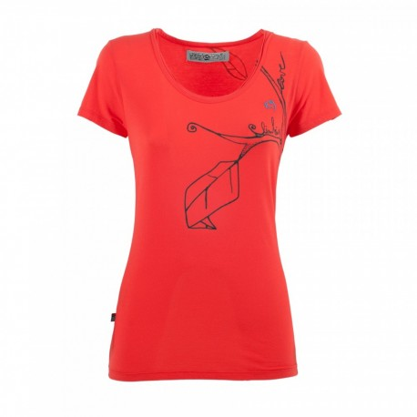 E 9 T-Shirt Donna Twig  Coral Red