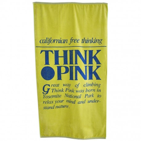 Think Pink Telo Logo Retro'  Giallo
