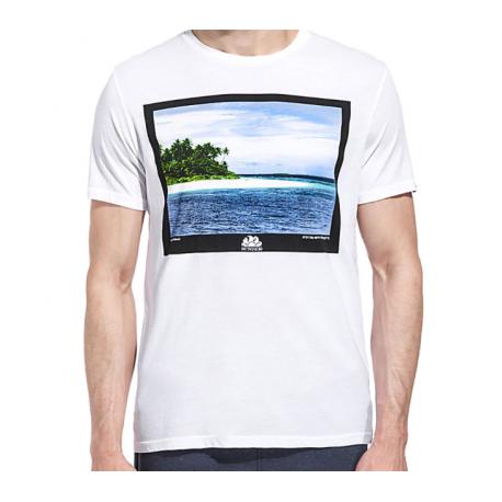 Sundek T-Shirt Stampa Foto Bianco