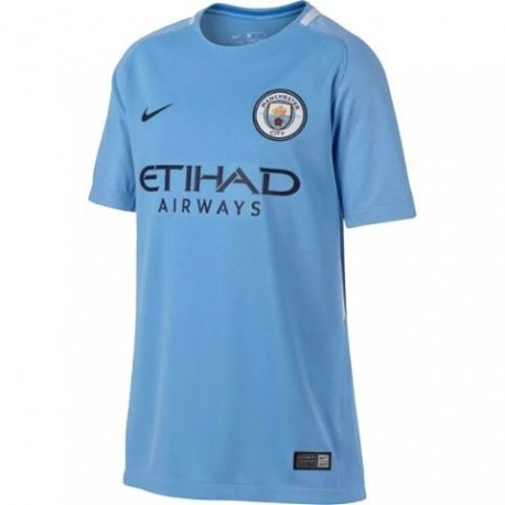 Nike T-Shirt Mm Manchester Home Blu